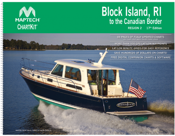 Maptech Chartkit 2: Block Island, Rhode Island to the Canadian Border