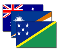 South Pacific Flags